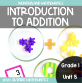 Grade 1, Unit 5: Introduction to Addition (Wonderland Math