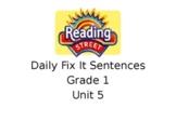 Grade 1 Unit 5 Reading Street Daily Fix It Sentences