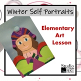 Grade 1 Winter Self Portrait Lesson