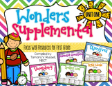 Wonders Focus Wall Resources Grade 1: Unit One