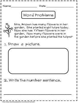 1st Grade Word Problems