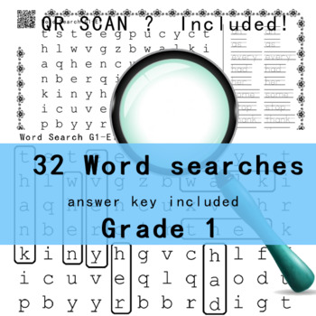 Grade 1 Word Search 4 pages -sample-Free