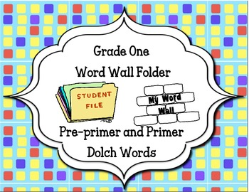 Grade 1- Word Wall Folder