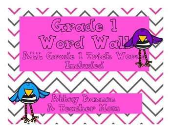 Grade 1 Word Wall - Letter and Words