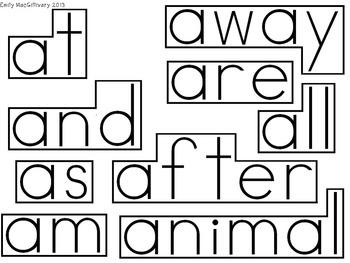 Grade 1 Word Wall: Robot Theme (Over 150 Words)