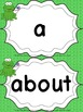 Grade 1 Word Wall Words - Frog Themed