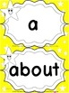 Grade 1 Word Wall Words - Yellow with white stars