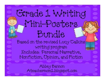 Grade 1 Writing Posters BUNDLE