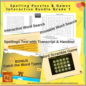 Grade 1, Year 2 Word Types & Spellings