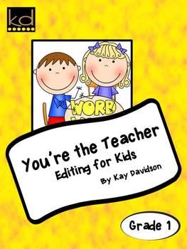 Grade 1 CCSS Language Conventions: You're The Teacher: Edi
