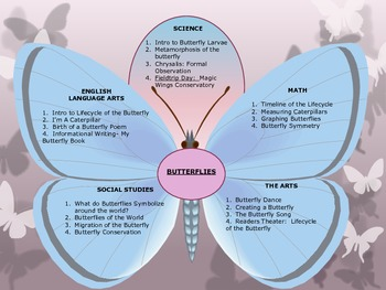Grade 1 (or other) Integrated Unit - Butterflies