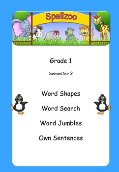 Grade 1 spelling lists and word puzzles Semester 2