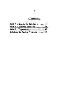 Grade 10 Revision booklet / mini textook  for MPM2D Ontario curriculum