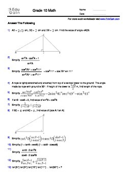 grade  trigonometry workbook   problems with solutions and  grade  trigonometry workbook   problems with solutions and insights