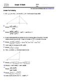 Grade 10 Trigonometry Workbook - 100 problems with solutio