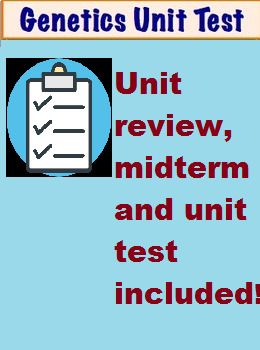 High School Biology- GENETICS Review & Unit Test!