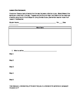 Grade 11-12 ELA Common Core Argument and Close Reading Unit