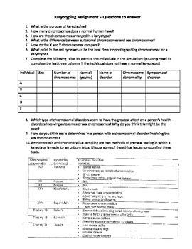 Grade 11 Biology Karyotyping assignment