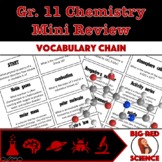 "Grade 11 Chemistry Review Warm-Up Game: ""I have, who has?"" Vocabulary Chain"