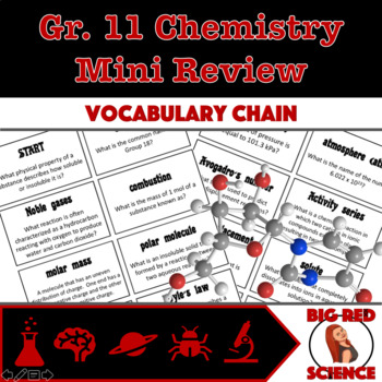 Grade 11 Chemistry Review Vocabulary Chain