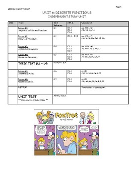 Grade 11 Functions Course Pack, MCR3U, Book 2 (Lessons, Tests, Exam Review)