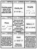 Grade 11 University Math - Marshmallow Toothpick Exam Review Activity