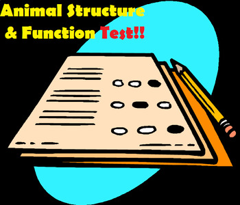 Grade 11 and 12 Animal Structure and Function Unit TEST!