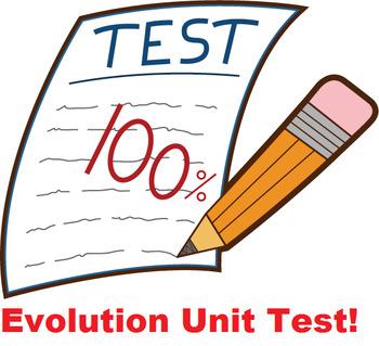 Grade 11 and 12 Evolution Unit TEST!
