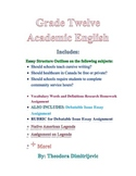 Grade 12 Academic English Package- Includes 2 exams for W.11-12.1 , W.11-12.1a