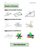 Grade 12 Calculus and Vectors, MCV4U, Book 1 (Lessons, Tes