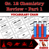 "Grade 12 Chemistry Review Warm-Up Game: ""I have, who has?"" Vocab Chain Part 1"