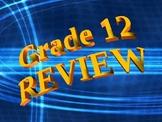 Grade 12 Math Review