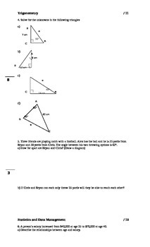 Grade 12 Mathematics Final Exam