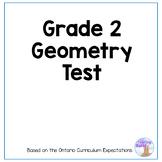 Geometry Test (Grade 2)