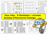 Grade 2  3 Place Value - 8 Worksheets / Activities - 11 pa
