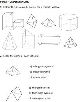 Grade 2 3D Geometry Test 2013