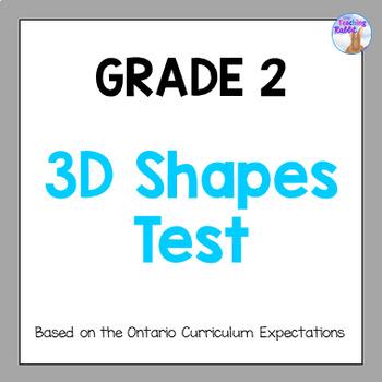 Grade 2 3D Shapes Test