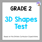 Grade 2 3D Shapes Test