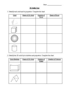 grade 2 3d shapes test by david sadonoja teachers pay teachers. Black Bedroom Furniture Sets. Home Design Ideas