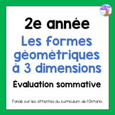 Grade 2 3D Shapes Test (French)