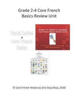 Grade 2-4 Core French Basics Review Unit Bundle
