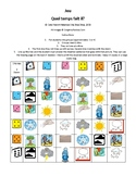 Grade 2-4 Core French Quel temps fait-il Weather Game
