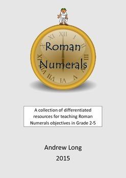 Grade 2-5 Roman Numerals Resource Pack