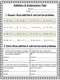 Grade 2 Addition & Subtraction Test