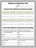 Grade 2 Addition & Subtraction Test