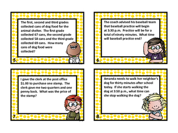 Word Problems Task Cards - 2nd Grade