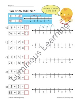 grade 2 addition and subtraction workbook making math visual bundle. Black Bedroom Furniture Sets. Home Design Ideas