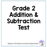 Addition & Subtraction Quiz (Grade 2)