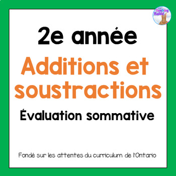 Grade 2 Addtion & Subtraction Test (French)