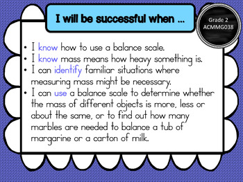 Yr 2 Maths Learning GOALS & Success Criteria posters. BUNDLED!